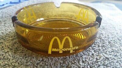 Vintage McDonald's Amber Glass Ashtray