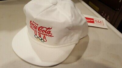 RARE Vintage Coca-Cola 1992 Olympics Snap back Hat  with Tags Team USA