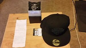 Harley davidson watch and hat Eltham Nillumbik Area Preview