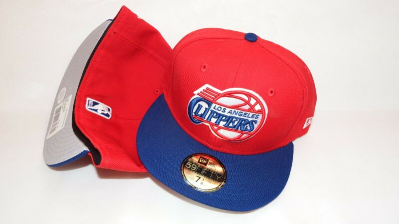 NWT NEW ERA HAT CAP FITTED LOS ANGELES CLIPPERS SIZE 7 3/8 RED BLUE NBA