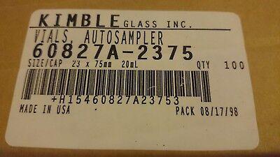 100 Kimble Vial Headspace 20mm Crimp 60827a-2375