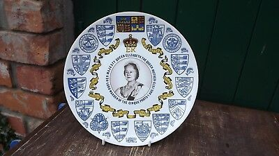 1979 Coronet China Plate Queen Mother Lord Warden of Cinque Ports