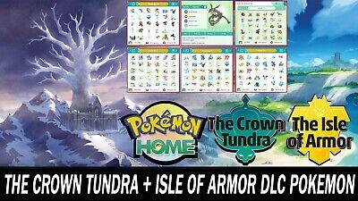 The Crown Tundra & The Isle of Armor DLC Pokemon Pack All Shiny Pokemon!!