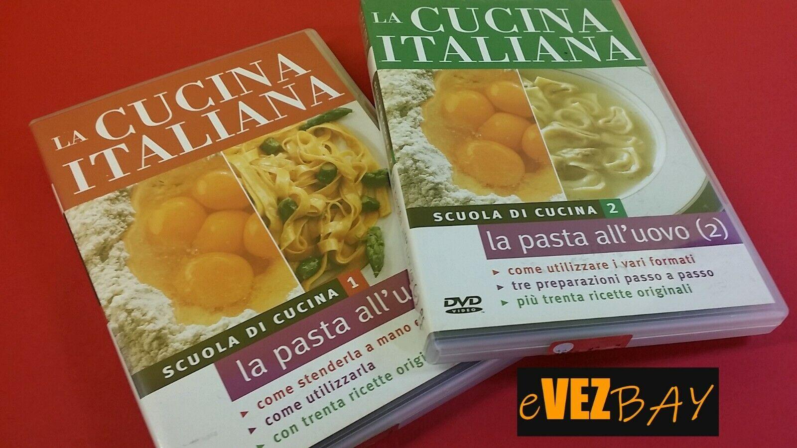 2 DVD - SCUOLA DI CUCINA 1 e 2 - La pasta all'uovo - LA CUCINA ITALIANA