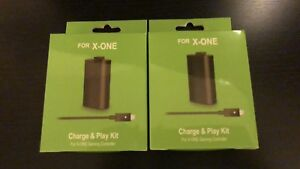 XBOX ONE CHARGE & PLAY KITS (2) $30!