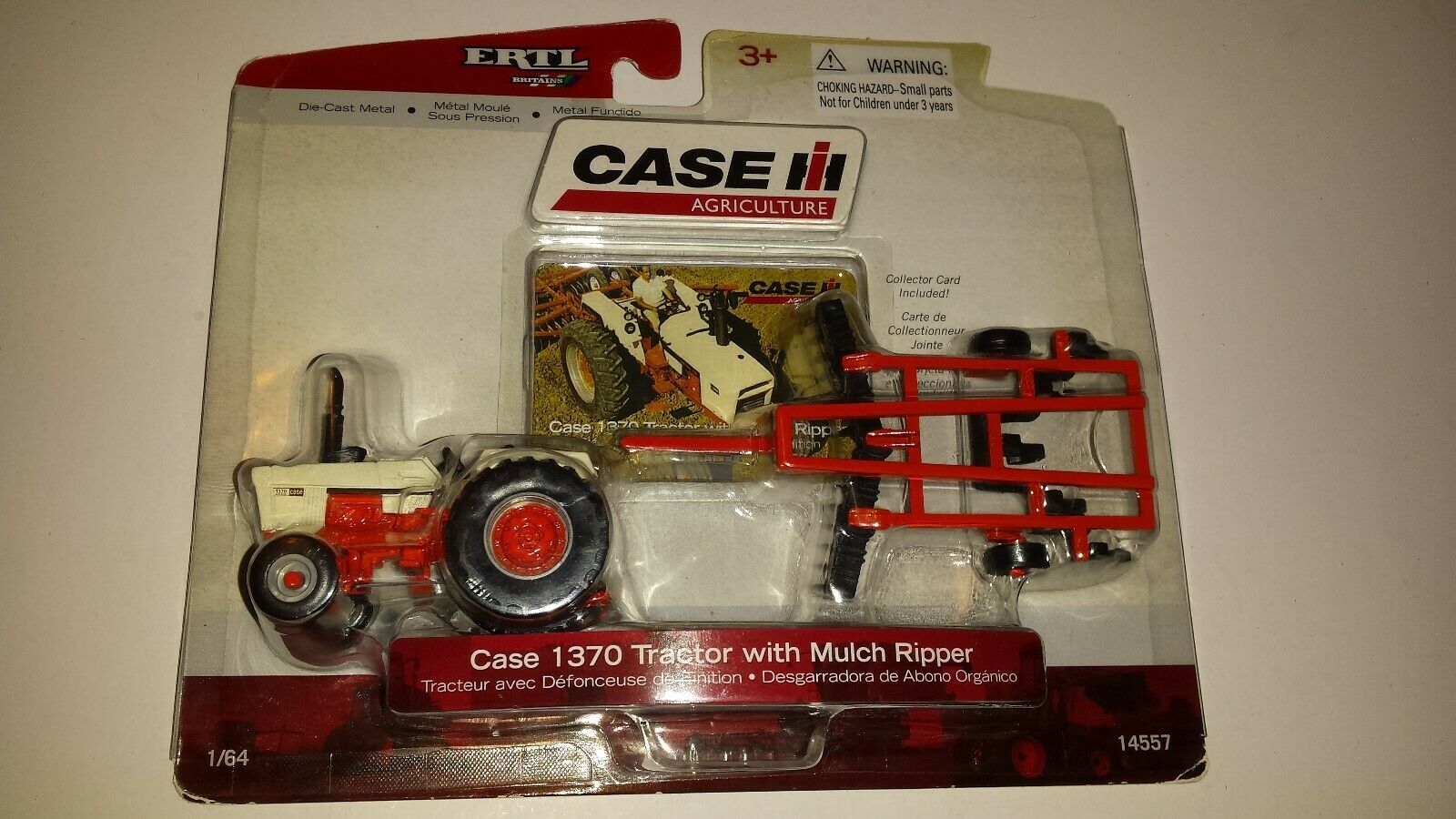 Ertl Case IH 1370 Tractor with Mulch Ripper 1/64 14557 (FACTORY SEALED)
