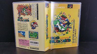 Super Mario World for Super Famicom Case and Artwork *NO GAME*