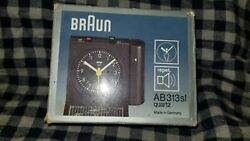 BRAUN Alarm Clock AB 313 SL Vintage Quartz Made in Germany Collectable TESTED!