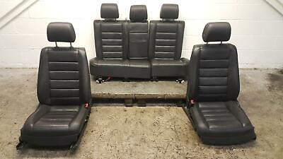 2003 VW Touareg Black Leather Heated Left & Right Front & Rear Seats Interior