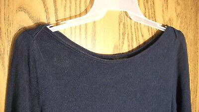 Terrific EILEEN FISHER Navy Lightweight Sweater - Size XL - 100% Linen Weave