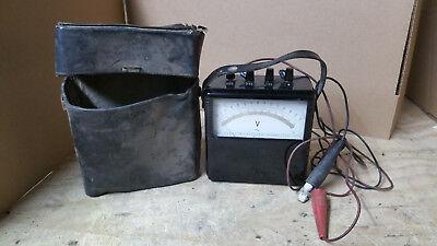 Vintage Yokogawa Portable Ac Voltmeter Type 2013 Wleads Case