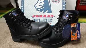 Steel Blue Work Boots Steel Cap Lace up New Engadine Sutherland Area Preview