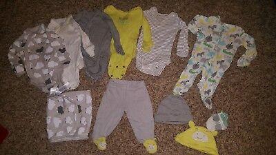 carters unisex newborn baby boy girl 12pc lot one piece bodysuits pant hats sets Carters Boy Girl Baby Pants