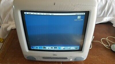 Vintage Clear Grey Apple iMac Computer Model # M5521