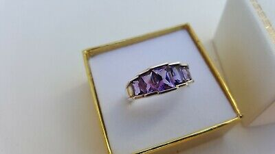 Beautiful Ladies Fine Estate Jewelry HSN Sterling Silver Gemstone Ring Size 9