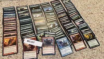 EDH lot of 211 BEAST Cards | Magic the Gathering MTG Commander Deck NM M Mint