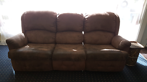 Free 3 seater sued couch with 2 recliners Christie Downs Morphett Vale Area Preview