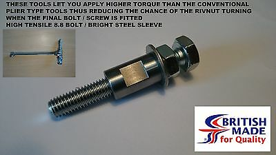 M10 - Engineers Heavy Duty High Tensile (8.8) Rivnut Insert Setting Tool Nutsert