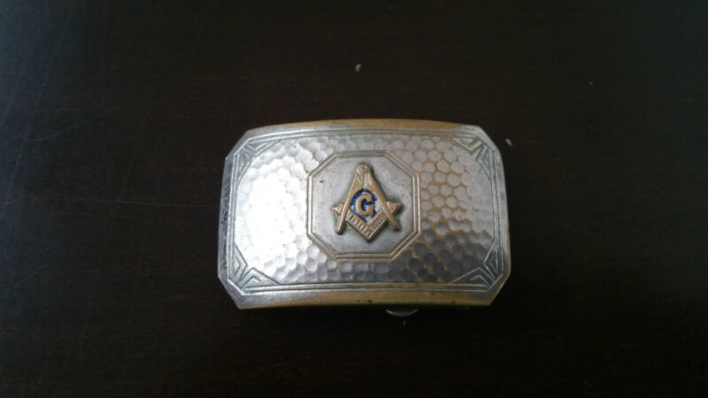 Masonic Belt Buckle, Masonic Grand Lodge, Sterling Silver Excellent Condition.
