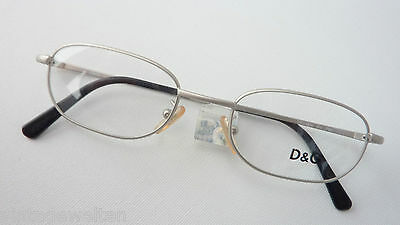 D & G Luxusgestell Protection Eyewear Metal Purist Silver 49-19 New SIZE M