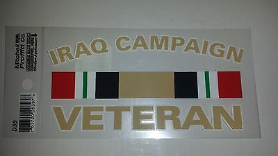Military Decal Iraq Campaign Veteran Army Navy Marine Air Force Sticker