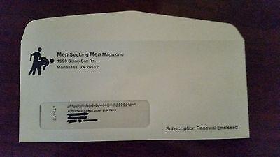Men Seeking Men Magazine  PRANK  3-Window Envelope's