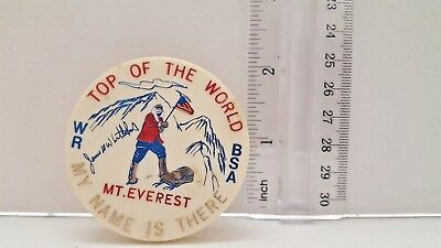 WR- BSA SLIDE MT EVEREST TOP OF THE WORLD  (JAMES W  WHITTAKER SIGNED) TORCHY