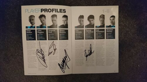 World Snooker Champions multi Signed programme