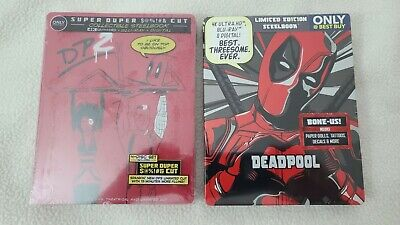 DEADPOOL DEADPOOL 2 4K STEELBOOK BRAND NEW SEALED OUT OF PRINT