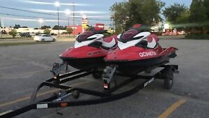 2 2007 RXP 215 Supercharged Seadoo w/trailer