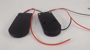 2pcs 6V Battery Holder Black 2x 2032 Button Cell ON/OFF switch coin 6volt Output