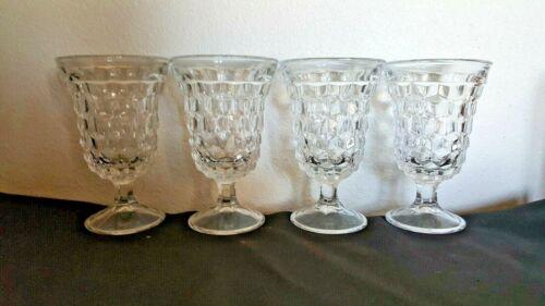 4 Fostoria american low water goblets