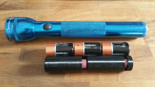 2x18650 Li-Ion 3D-Cell Maglite Adapter - conversion kit w/ LED bulb option