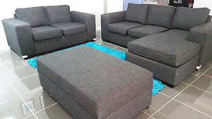 Selling dark grey/charcoal  lounge suite 2 seater 3 seater Harrington Park Camden Area Preview
