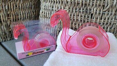 Pink Flamingo Tape Dispenser Refillable Wclear Tape 34 Inch Desk School Supply