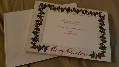 7 Holiday Greeting Photo Merry Christmas Cards w/ envelopes ()