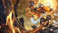 Poster 42x24 Cm League Of Legends Wukong Radiante Lol -  - ebay.es