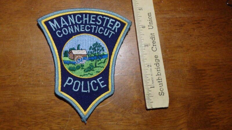 MANCHESTER CONNECTICUT POLICE OBSOLETE SHOULDER PATCH BX 4 #37