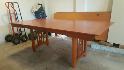 Wood dinning table 8 seater table only MAKE AN OFFER