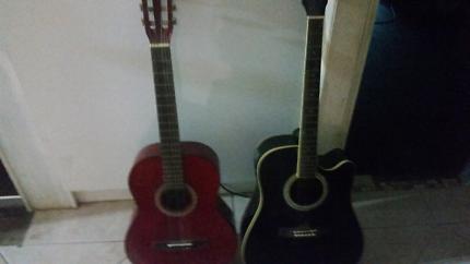 2 accustic guitars