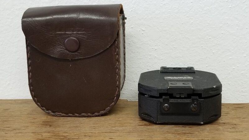 Vintage Lietz Surveyors Transit Pocket Compass 8026-51 w/Leather case