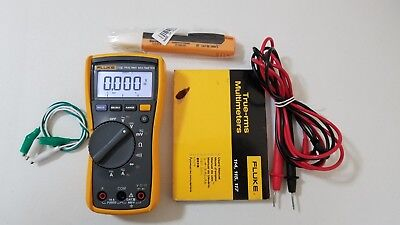 Used Fluke 116 Trms Multimeter With Manual And Test Leads Tp239366