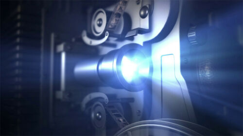 I will reveal your logo with a vintage PROJECTOR cinema video intro