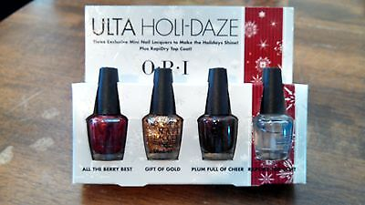 OPI Ulta Holi-Daze Mini Nail Polish Gift of Gold Plum Full Cheer All Berry