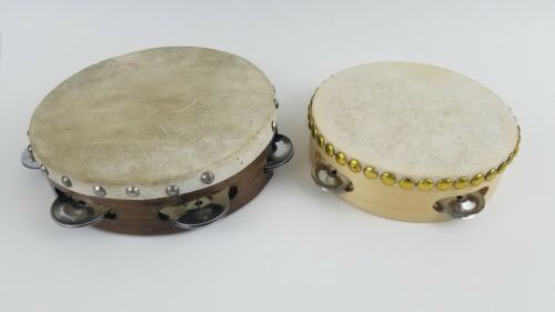 "Lot Older Vintage 7"" Tambourine Plus 6"" First Act (Read) O2"