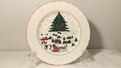 Kopin Christmas Pleasure 7 3 4  Salad Plate  S  In Excellent Condition
