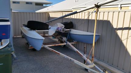 catamaran and trailer