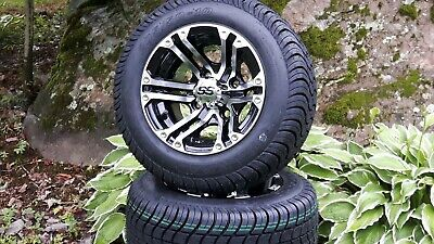 10'' golf cart wheel and DOT tire assembly, Fit: Club Car, EZ-GO and Yamaha