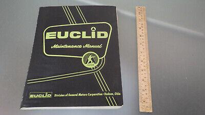 Vtg Original 1963 Euclid L-20 L-30 Front End Loader Maintenance Manual Tractor