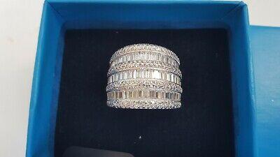 Beautiful Ladies Fine Estate Jewelry HSN Sterling Silver CZ Gemstone Ring Sz10